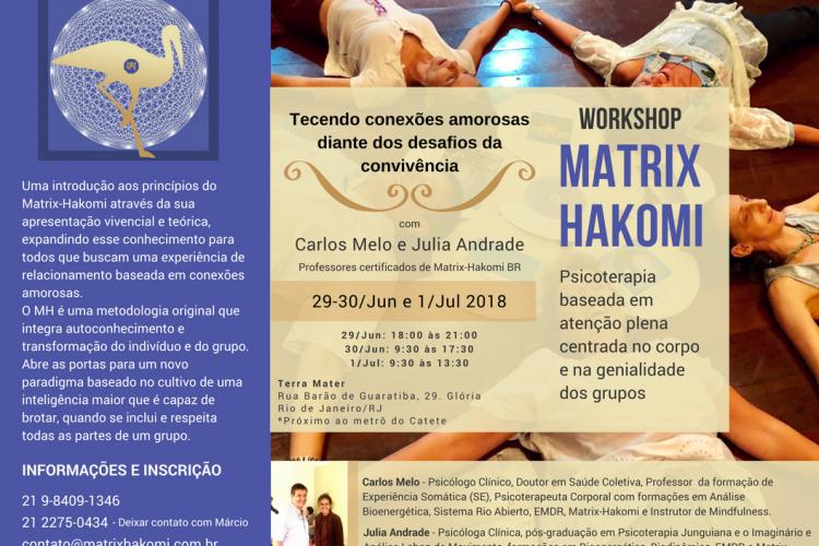 Workshop Matrix-Hakomi em Junho/Julho de 2018 – Inscrições abertas!